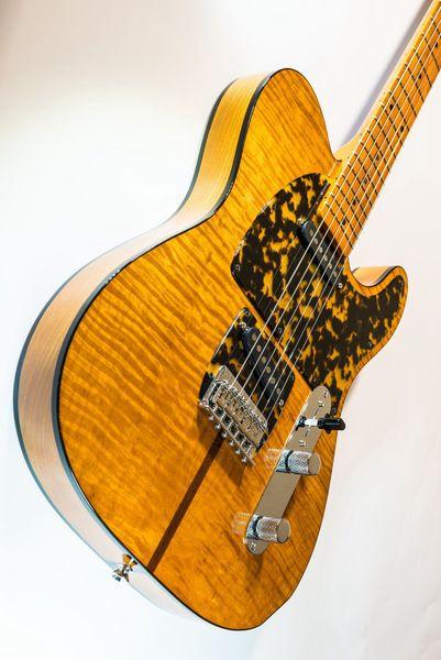 Гитара Prince HS Anderson Madcat Mad Cat Янтарно-желтое пламя кленовая электрогитара Леопардовая накладка Классическая черная обвязка