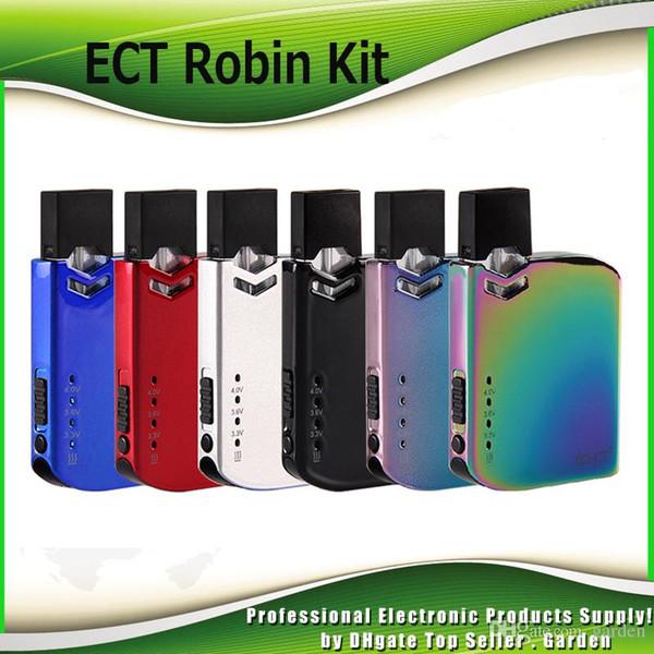 Kit originale ECT Robin Pod Kit Kit 420mAh All-in-One Kit Vape con cartuccia da 0,5 ml per olio denso 100% autentico