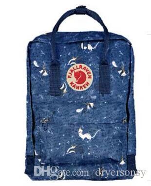 Fjällräven Original-New Style Die schwedische Arctic Fox Kanken-Blau-Tarnung Rucksack Fable Tasche für Studenten auf Verkauf