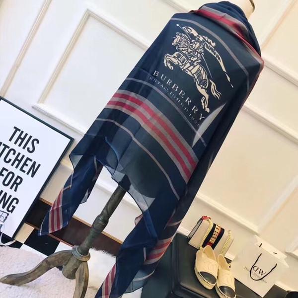 Diseñador de lujo Bolso de Seda bolsa de bufanda Bandas para la cabeza Nueva marca de seda de los rascados Bolsa de seda de grado superior bufanda Bandas de pelo 90x180cm
