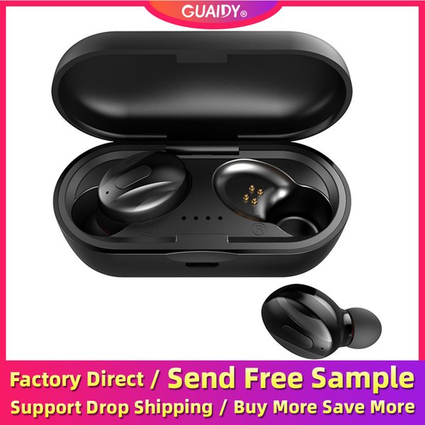 XG15 Fone de ouvido Bluetooth TWS Dual In Ear 5.0 Stereo Som Wireless Headset Sports Headphone Universal Sweatproof portátil Binaural HD Chamada