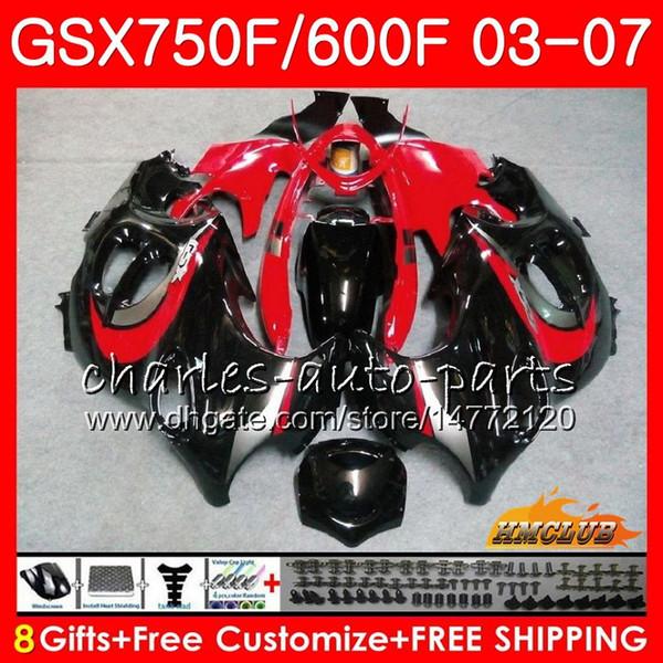 Body kit For SUZUKI KATANA GSXF600 GSXF750 03 04 05 06 07 3HC.38 GSX750F GSX600F GSXF 750 600 2003 2004 2005 2006 2007 red black hot Fairing