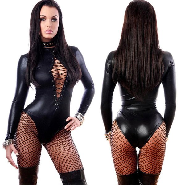 best selling Porn Sex Underwear Women Erotic Lingerie Sexy Leather Latex Baby Doll Sexy Lingerie Dance Club Sexy Babydoll lingerie teddy