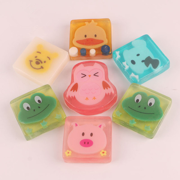 Niños de dibujos animados de aceite hecho a mano jabón niños niñas uso en el hogar tipos coloridos jabón creativo ducha lavado limpieza baño herramientas QQA393