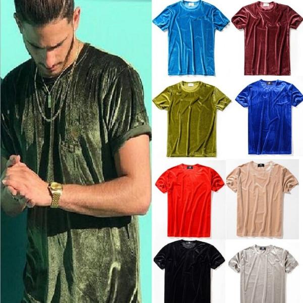 cinda02 / Homens Verão Mens Designer T-Shirt Estilo Europeu De Veludo T-shirt Em Torno Do Pescoço de Algodão Mangas Curtas T-shirt Masculinas e femininas