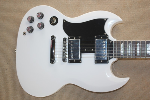 QUENTE! Sg-400 guitarra elétrica branca para pessoas canhotas