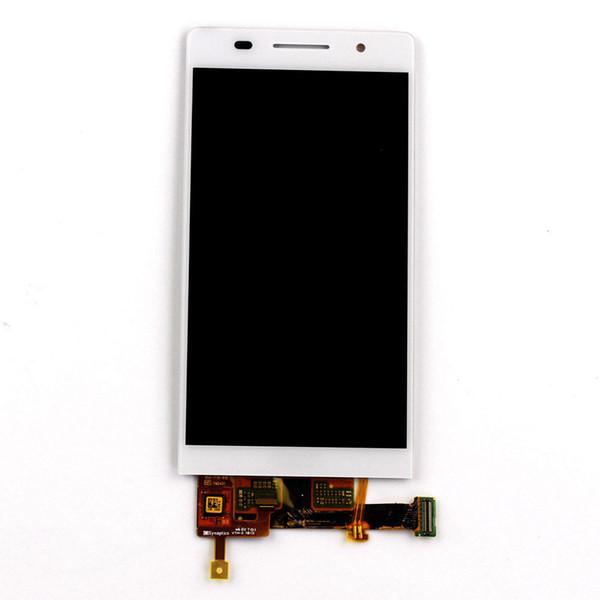 Huawei P6 için yedek parçalar 4.7-inç dokunmatik LCD ekran siyah beyaz% 100 test ve nitelikli monte edilir