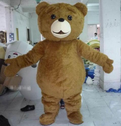 2019 Factory direct sale Teddy Bear Mascot Costume Cartoon Fancy Dress fast shipping Adult Size