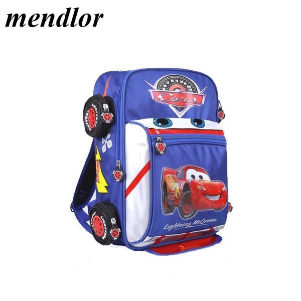 Детский мультфильм 3D автомобиль Школьные сумки Мальчики Девочки Начальная школа Рюкзак Дети Детский сад Рюкзак Школьные сумки Mochila Infantil
