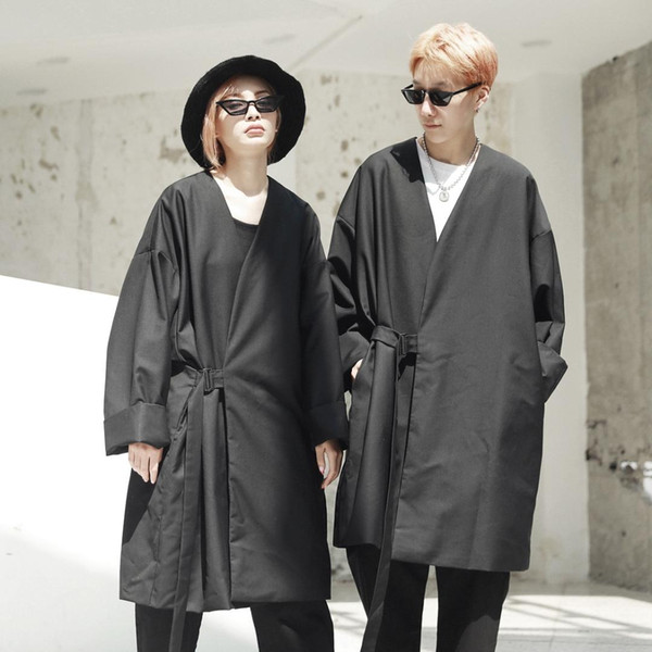 Hop Größe Kimono Für Lange Harajuku Großhandel4358 Jacke Schwarz Plus Frauen Herbst Mantel Männer Strickjacke Hip Lose Männliche Lässige qUpVSzM