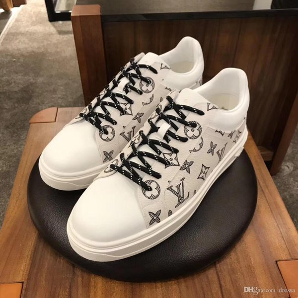zapatos de los nuevos hombres de moda casual calzado deportivo salvajes modelo outdoor de gama alta los zapatos de los hombres cómodos caja de embalaje original delicatessen rápida