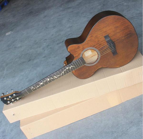 trasporto libero da 40 pollici abete ballad principiante chitarra elettrica scatola elettrica chitarra folk strumento musicale all'ingrosso