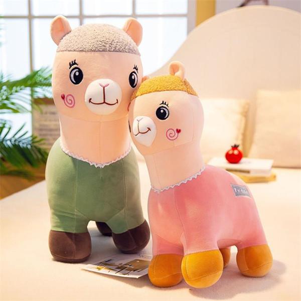 Creative Mythiques Animaux en peluche jouets en peluche oreiller doux alpaga Embrace poupée beau jouet en peluche Llama enfants de Noël GiftsT9I00132