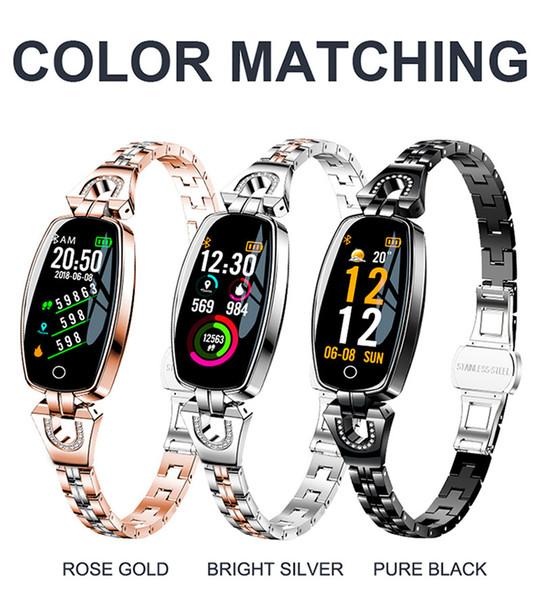H8 Smart спортивный браслет женский цветной экран многофункциональный шагомер мониторинг сердечного ритма водонепроницаемый наручные часы