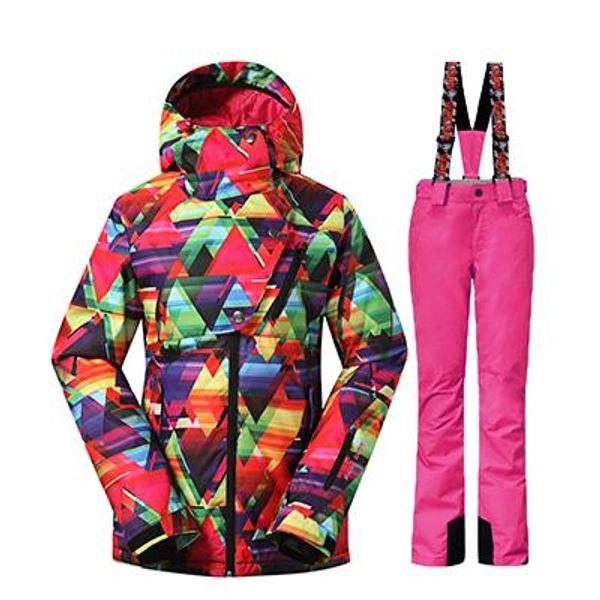 35 Degree Women Ski Suit Female Snowboarding Suits Waterproof 10K Super Warm Ski jacket + Pants Outdoor Sport