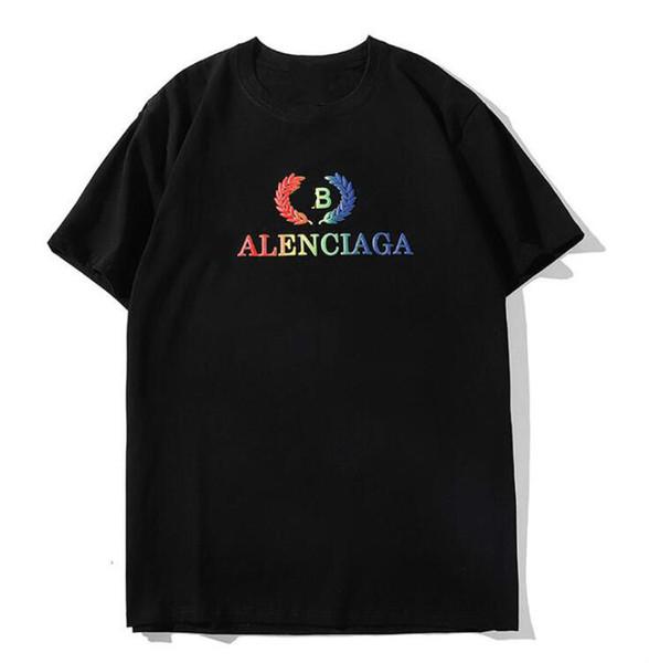 Europa und die Vereinigten Staaten Sommer Weizenohr Brief Schaum Druck kurzärmeliges T-Shirt Männer und Frauen lässig lose halbärmeliges Hemd