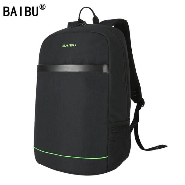 BAIBU Brand Men External USB Charge Backpack Male Mochila Escolar 15.6 inch Laptop Backpack women Urban Backpack for teen