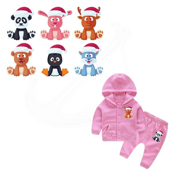 New design cute cartoon Christmas animals patch patches for clothing Children Diy T-shirt A-level Thermal transfer sticker