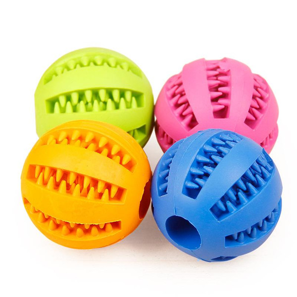 top popular Pet dog toy clean tooth ball wholesale Teddy puppy decompression elastic rubber ball dog toy pet toy 2021
