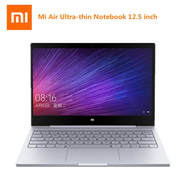 Xiaomi Mi Air 12.5 Inch Ultra-thin Laptop Windows 10 Home Version Intel Core M3 7Y30 Dual Core 2.6GHz 4GB RAM 128GB SSD Notebook
