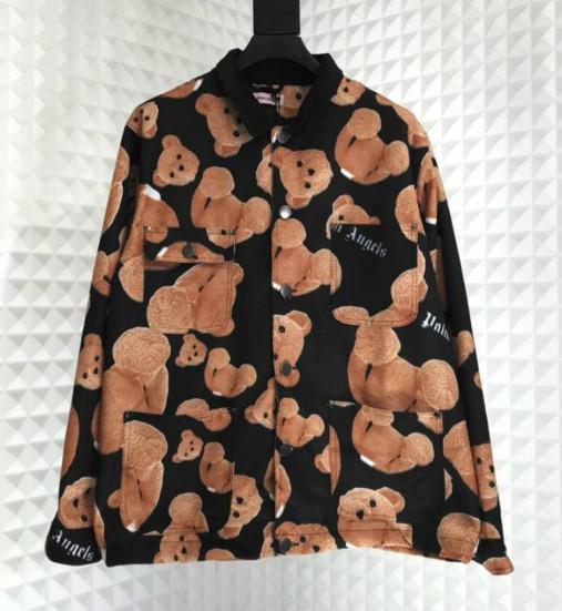 Nuovo progettista di arrivo Giacche autunno della molla di marca giacche per la Mens Donne Streetwear con cute orso Stampa Maniche lunghe Abbigliamento di lusso