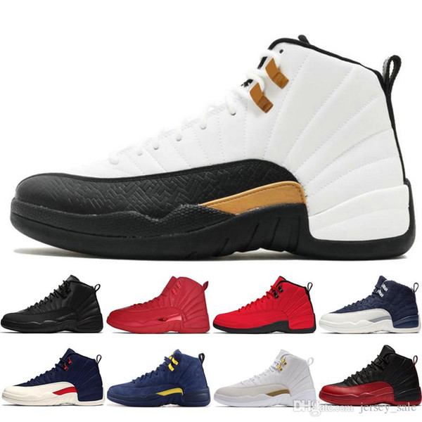 2019 New 12s Winterized WNTR Gym Red Michigan Mens Basketball Shoes The Master Flu Game Taxi UNC Gamma Blue 12 men sports sneakers designer