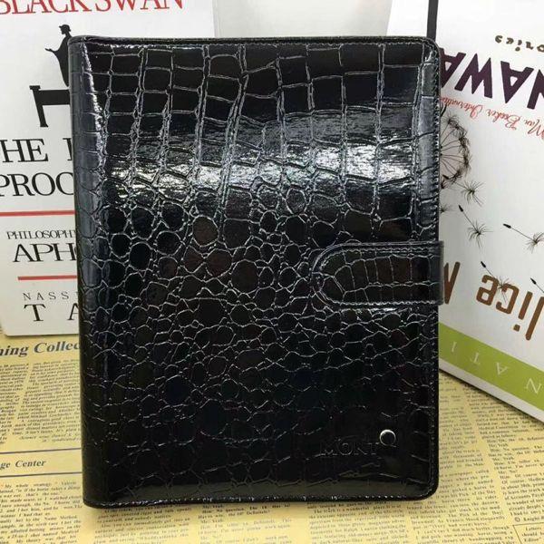 Notebook in pelle da uomo Agenda nera di lusso Coccodrillo Diario Notebook per ufficio Blocchi note Diario personale fatto a mano Articoli di cancelleria