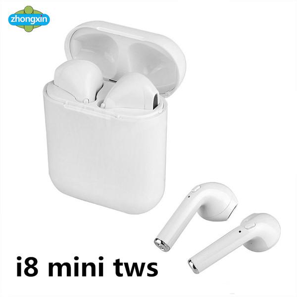 I8 Mini TWS Sem Fio Bluetooth Fone de Ouvido Fone de Ouvido Estéreo Fone de Ouvido Magnético Com Caixa De Carregamento Mic Para O Telefone não Airpods