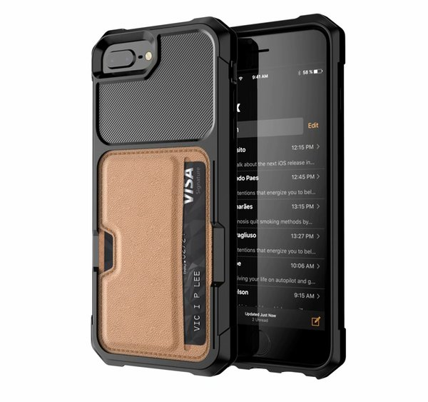 Magnetic Stand phone Case For iPhone X XS MAX XR 8 7 6S Plus protect cellphone Car Holder Phone Case with credit card slots multi functional