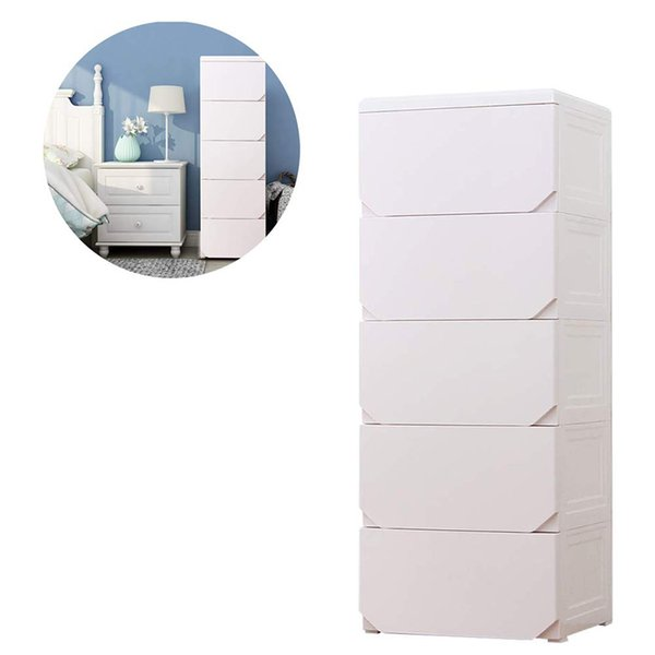 Europe Plastic Wardrobe Storage Drawer Box Organizer Cabinet Storage Furniture For Children Clothes Food Toy of Bedroom Living room