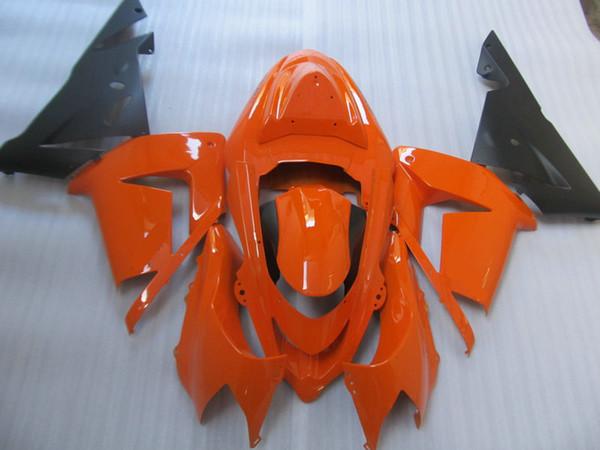 Injection mold Fairing body kit for KAWASAKI Ninja ZX10R 04 05 ZX 10R 2004 2005 ABS Orange black Fairings bodywork+gifts KM25