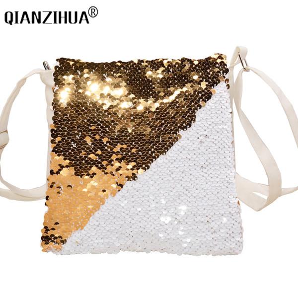 be499e3d8f Designer 2019 Fashion Change Colors Small Women Leather Crossbody Bag For  Girl Shoulder Bag Sequined Messenger Bag Clutch Handbag Purses Leather ...
