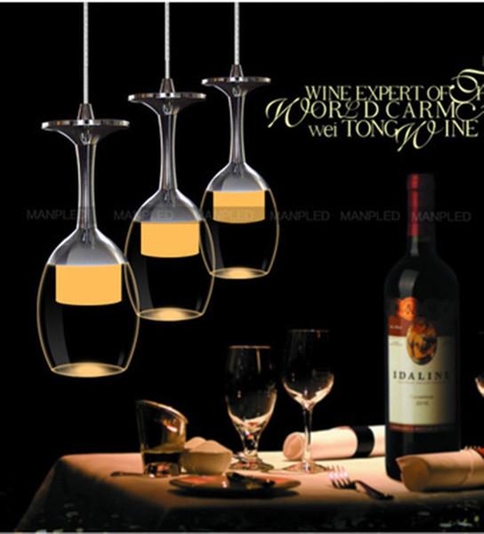 Modern kolye lamba Creatuve Kristal şarap cam LED avize Tavan Işık Çubuğu dükkanı Kolye Işıkları Koridor Ev restoran otel aydınlatma