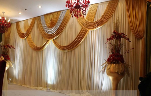 2019 Wedding Backdrop Curtain Angle Wings Sequined Cheap Wedding Decorations 6m3m Cloth Background Scene Wedding Decor Supplies Party Supplies