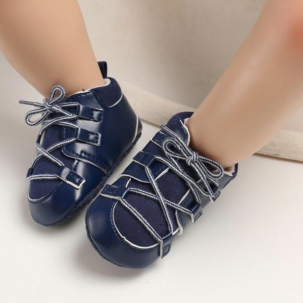 FOCUSNORM Kleinkind Mädchen Jungen Leder Krippe Schuhe Neugeborenes Baby Prewalker Weiche Sohle Entzückende Turnschuhe 0-18Monate