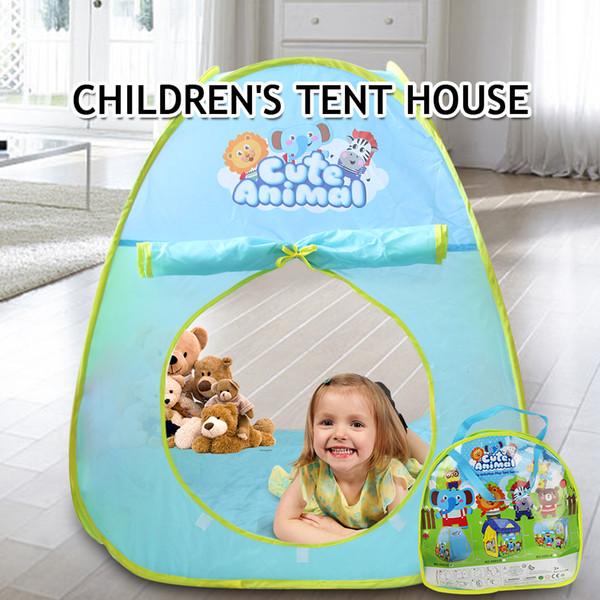 Portable Cartoon Play Tent for Children Baby Beach Tent Indoor Outdoor Kids Activity House Teepee Birthday Gift