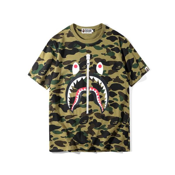 T-shirt da uomo Camouflage Cartoon Tempo libero T-shirt Easy T-Shirt manica corta per uomo T-Shirt
