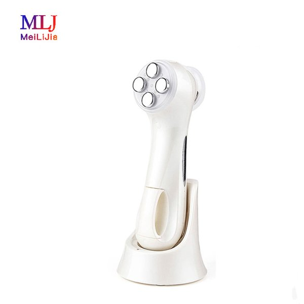 Home use Vibration Photon LED therapy beauty device color led light therapy face lifting wrinkle device