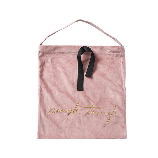 Nordic velluto Storage Bag Bundle tasca coulisse Abbigliamento Borsa di stoccaggio biancheria intima Viaggi finitura piccoli