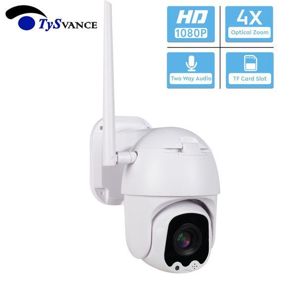 Мини IP-камера WiFi HD 2МП 1080P беспроводной PTZ Speed Dome 4X оптический зум CCTV двухсторонняя аудио TF карта наблюдения Слот безопасности