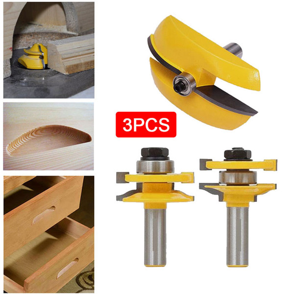 top popular 3pcs 1 2 Handle Raised Panel Door Router Bit Milling Cutter Power Hand Tool 2021