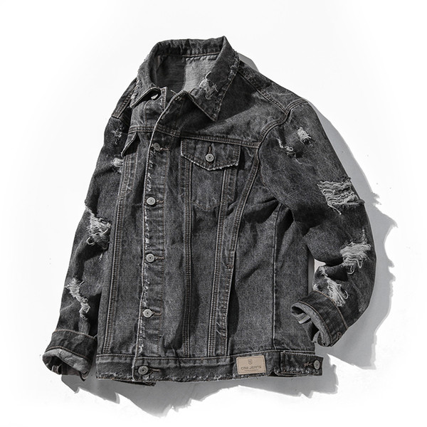 Autumn And Winter Denim Jacket Fat Big Size Denim Hole Jacket S 6XL Jacket Sale Mens Jean Jacket With Fur Collar From Blueberry13, $51.78| DHgate.Com