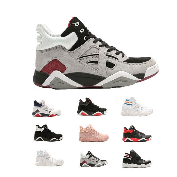 free shipping 2019 winter man woman designer sneakers classic cage basketball shoes pack black white red