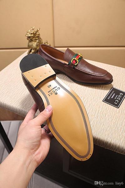 Zapatos formales de hombre zapatos de cuero genuino oxford para hombre negro 2019 zapatos de vestir zapatos de boda slipon brogues de cuero