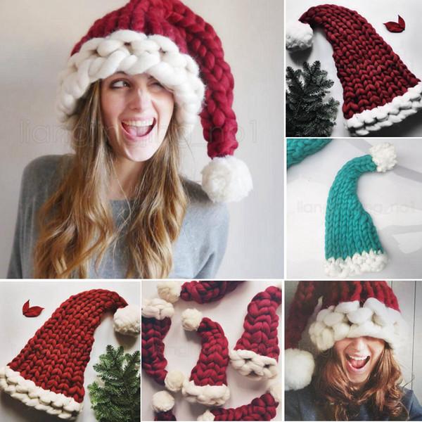 3 stili di lana cappelli lavorati a maglia cappello di natale casa di moda festa all'aperto autunno inverno cappello caldo regalo di natale favore di partito decorazione albero interno FFA2849