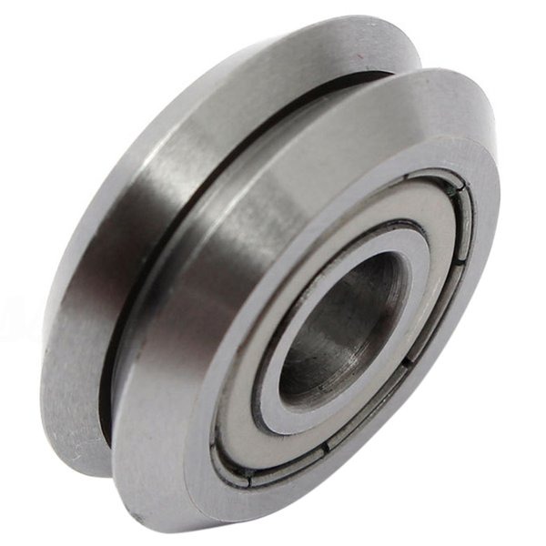 W1 Deep V Groove W-rail Guide Line Track Pulley Rollers Ball Bearings SteelModel:W1