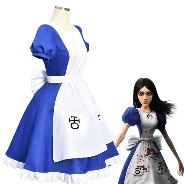 Alice Madness Returns Princess Dress Maid Dress Made Disfraz de Cosplay Halloween