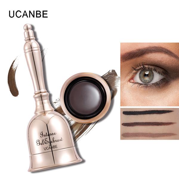 Marca de fábrica 3 colores Gel de cejas en forma de campana Maquillaje de ojos Maquillaje de ojos duraderos Cejas Cabello Tatuaje Tinte Crema Tintura impermeable Mejorar con cepillo