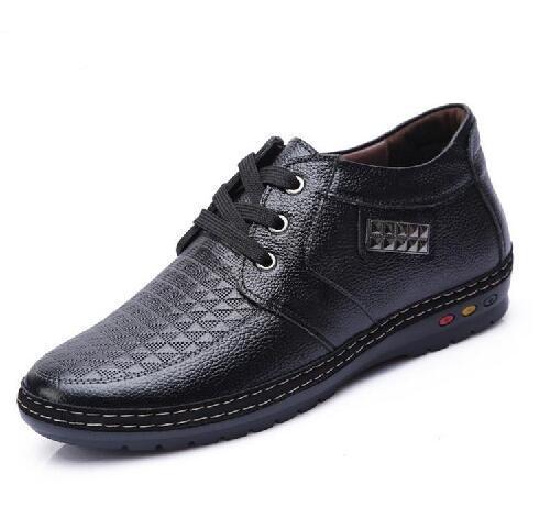 Hommes Invisible Elevator chaussures de sport noir marron lace up hommes chaussures habillées augmentation de la hauteur formelle élevée pour M011