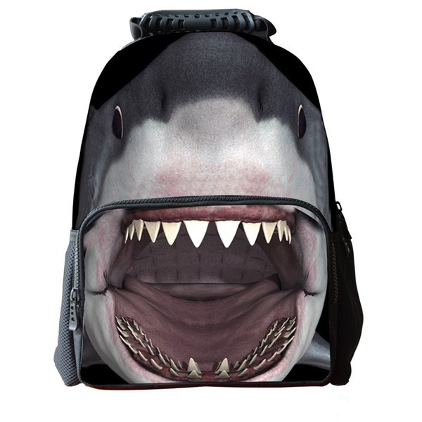 2019 Hot sale Sharks students schoolbags outdoor leisure sports bag personalized student travel package